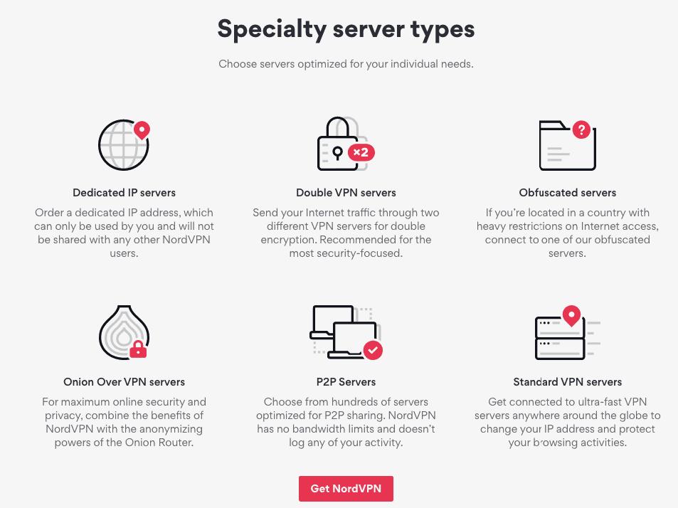 NordVPN Server Specialtly