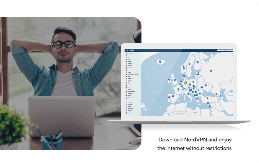 NordVPN Server. Location