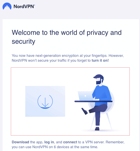 NordVPN Welcome Email
