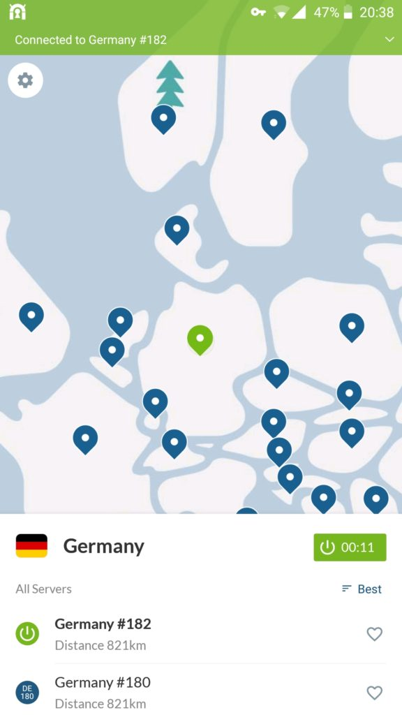 NordVPN for Android Screenshot 1